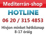 Mediterrán-shop hotline